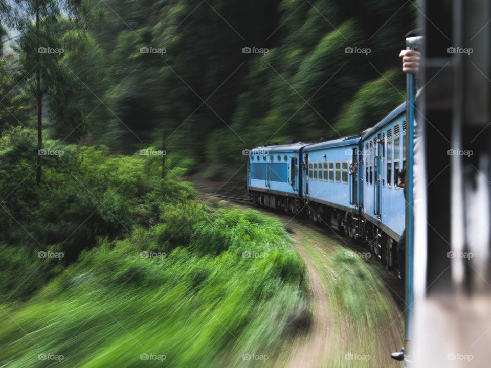 faster please. Sri lankan train