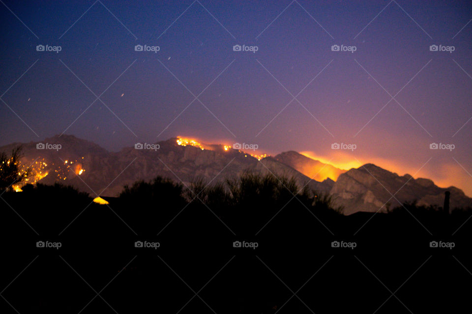 Wildfire on the mountains
