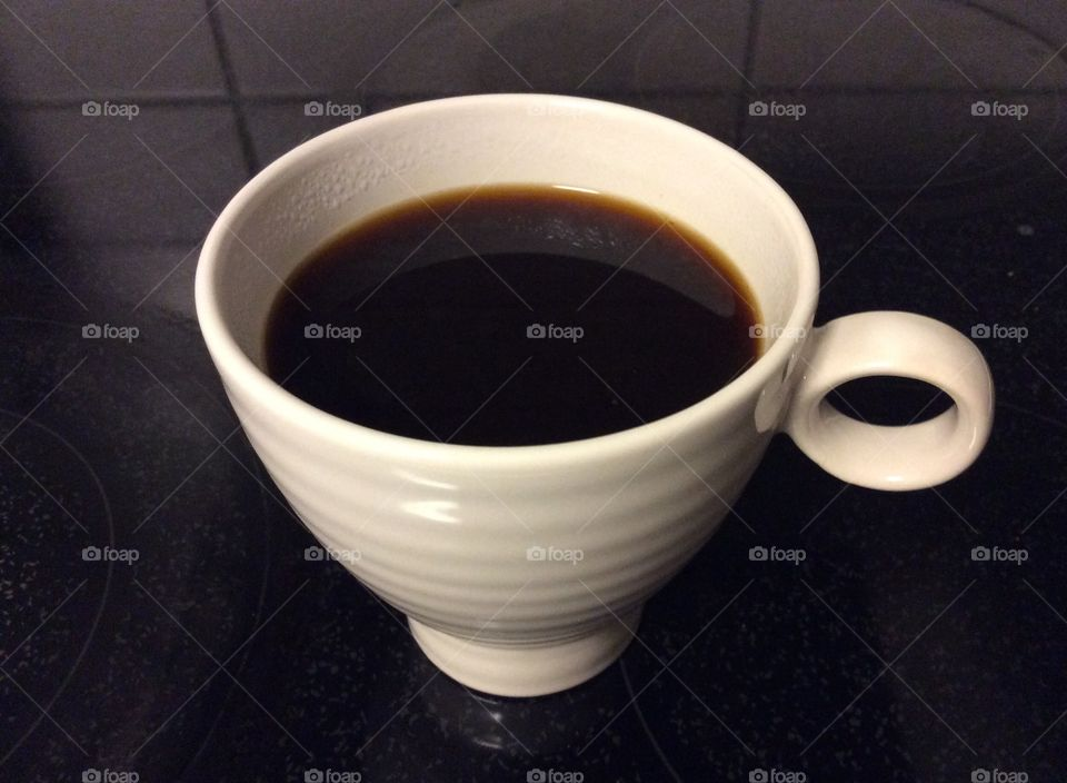 A cup of black coffee!