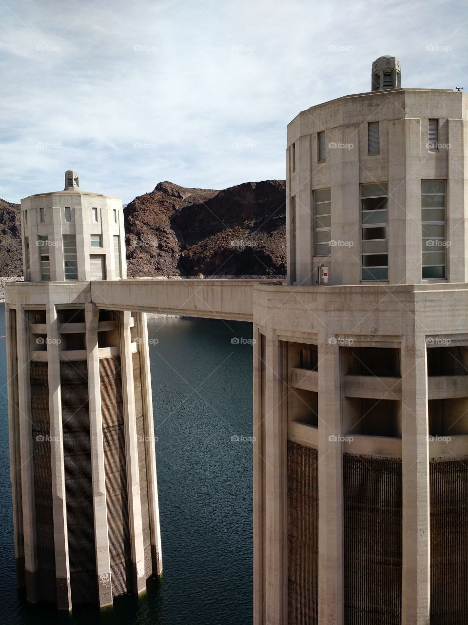 hoover dam visit. family trip in February