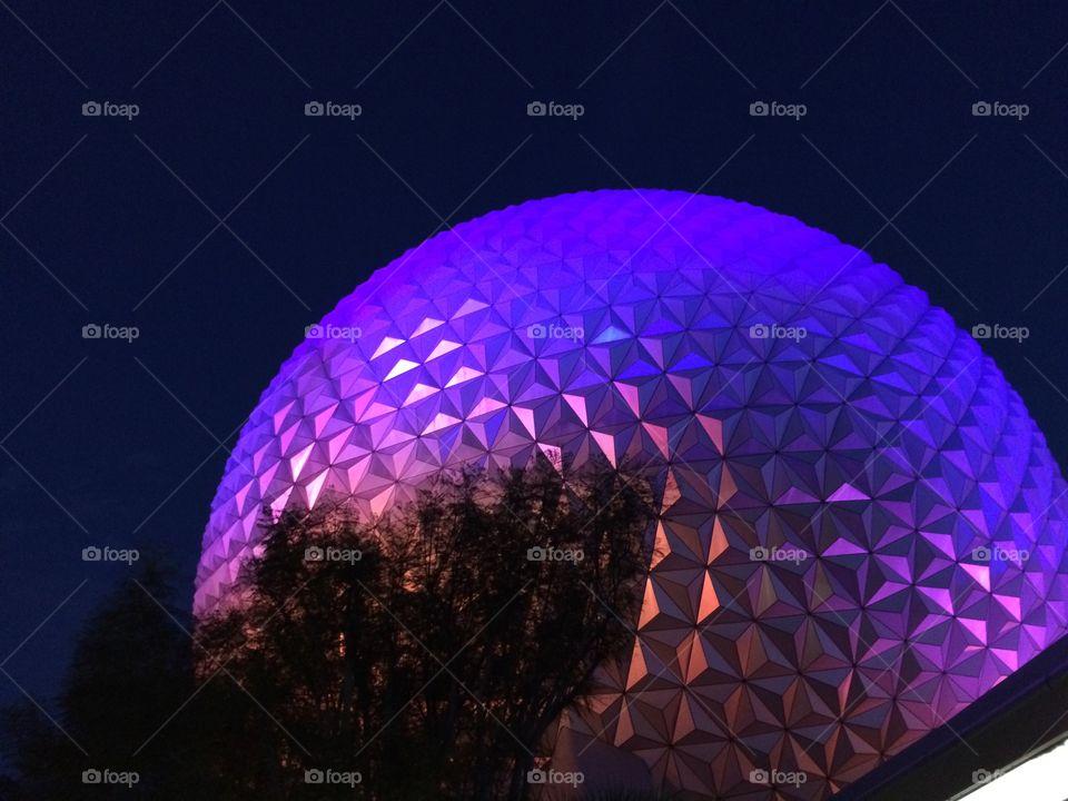 Disney Epcot at night