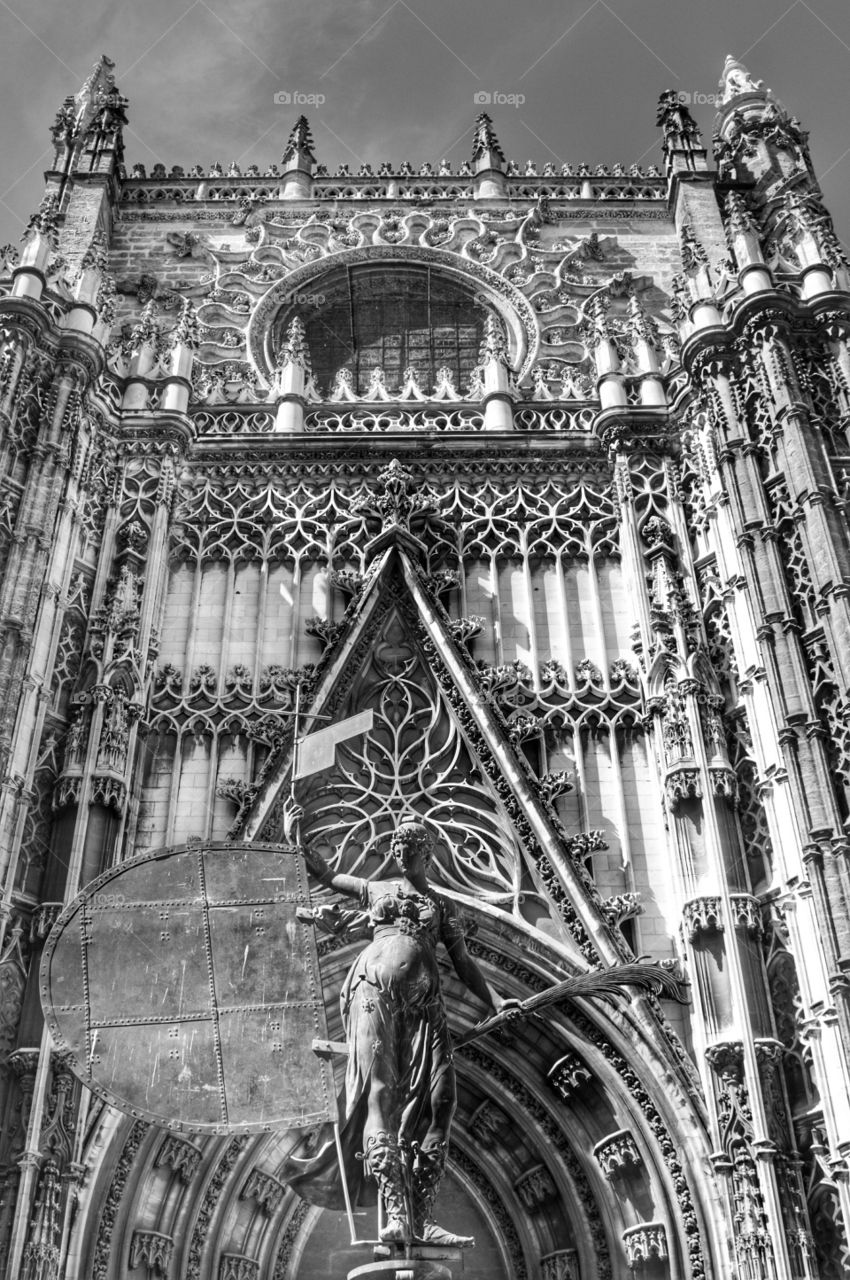 Door of the Prince. Door of the Prince, Sevilla Cathedral, Spain