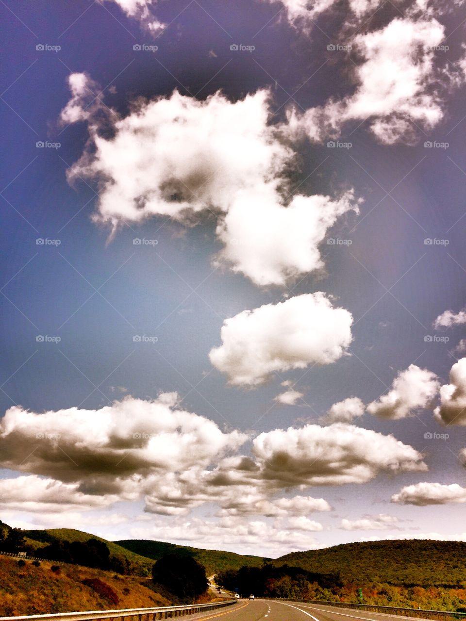 Clouds, Blue Skies, Mountain Views, Pennsylvania