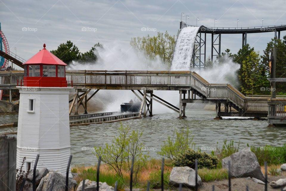Water roller coaster.