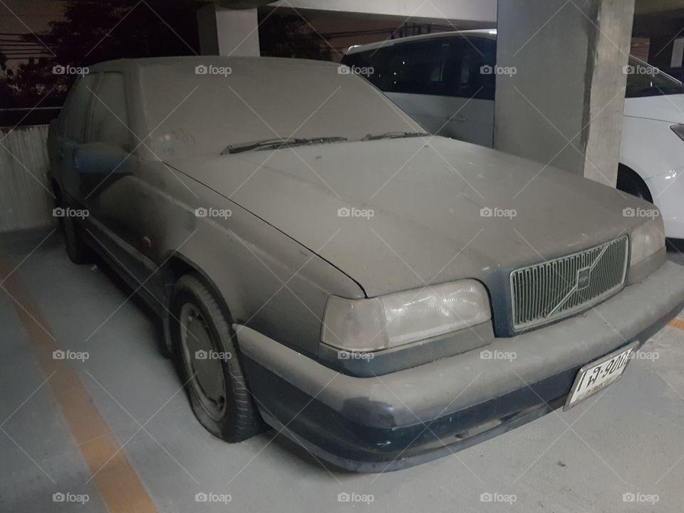 Dusty unused car
