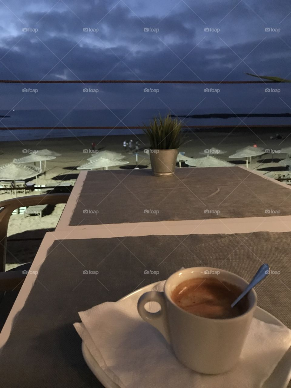 Coffee front of beach