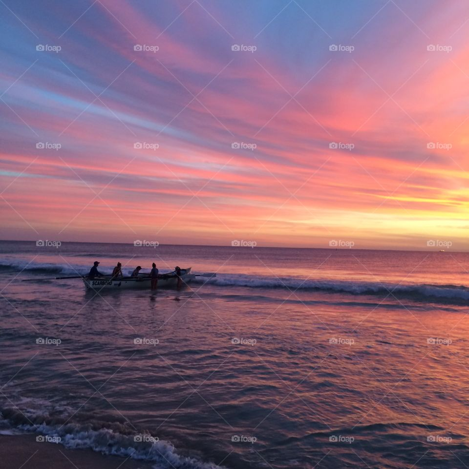 Amazing sunset in Perth