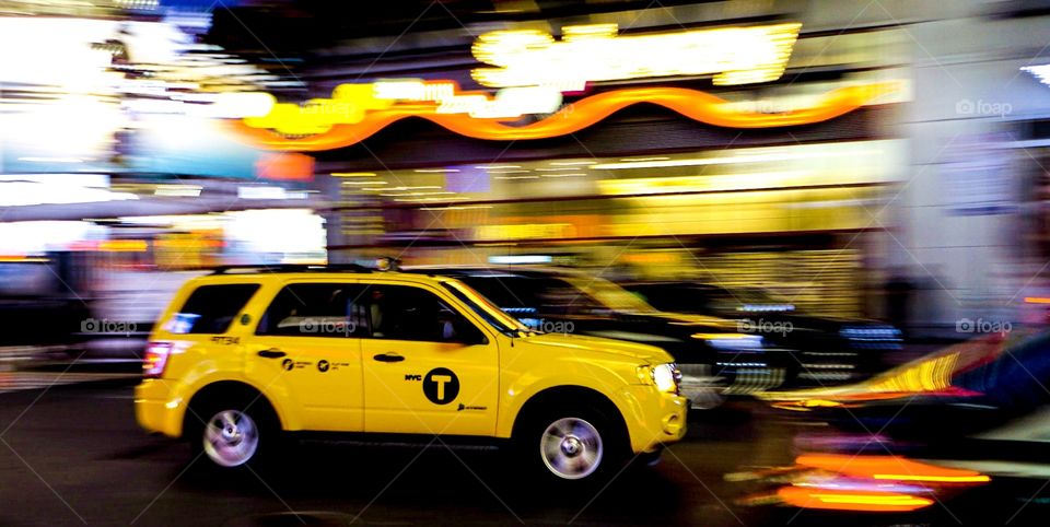 Yellow Taxi Times Square
