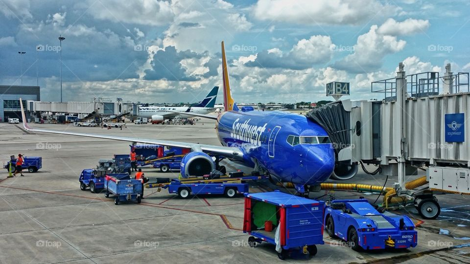Southwest at terminal at fort Lauderdale airport...✈