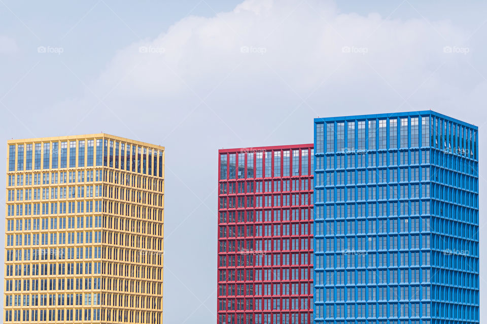 Bright and colorful office buildings