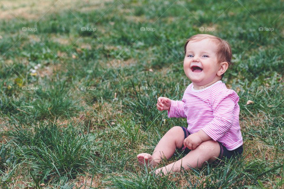 Portrait of a cute happy boy