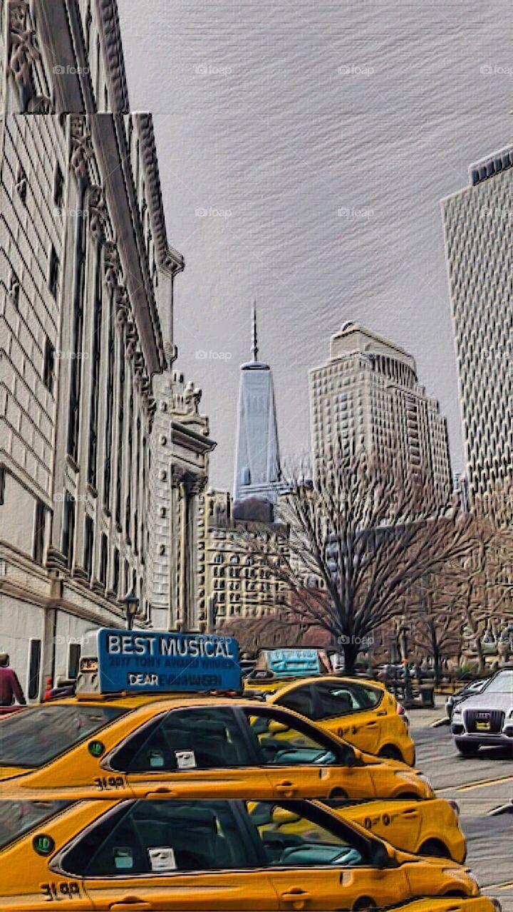 Pearl Street View, One World Trade Center, Manhattan, New York City.