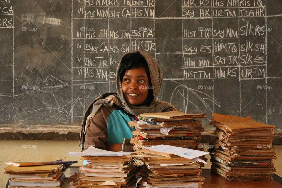 Teacher in a Classroom in Africa