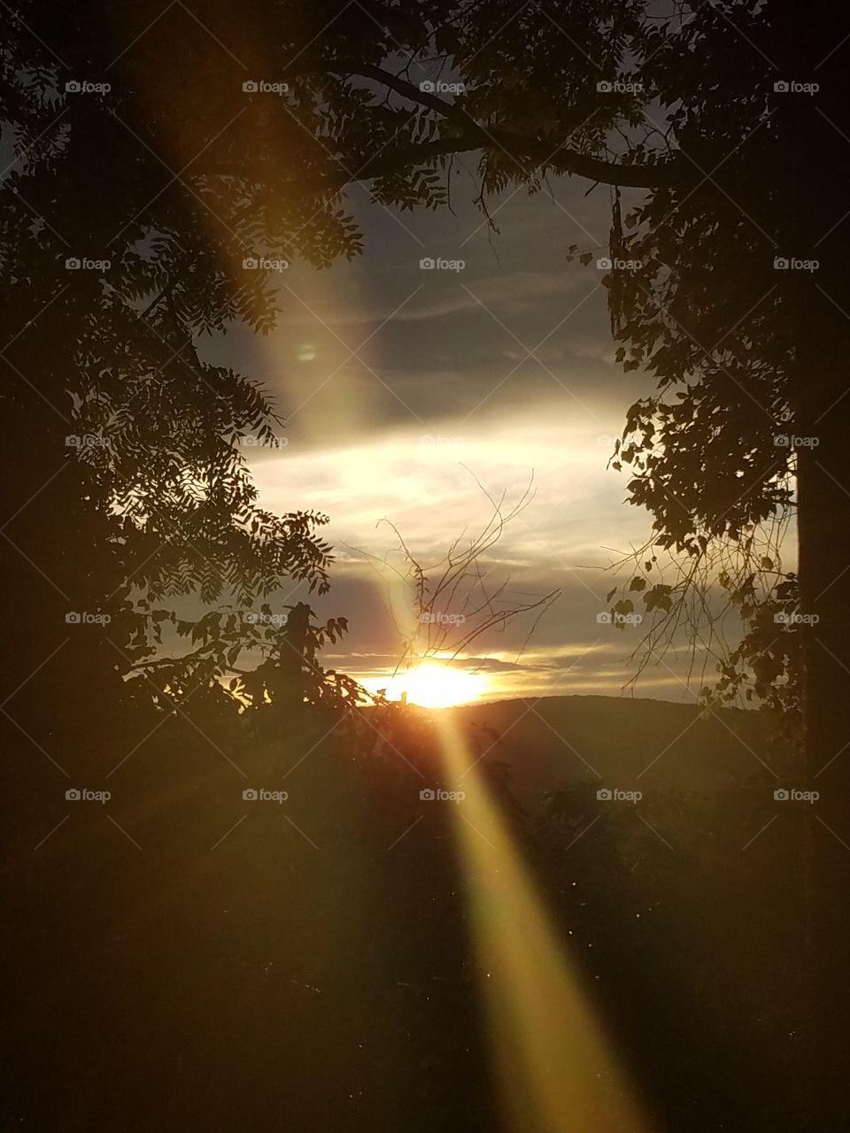 My Hazy Sunset