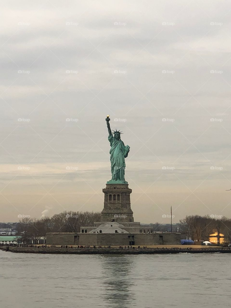 The lady her self a gift from France to the Americans , doesn't disappoint but is really small.
