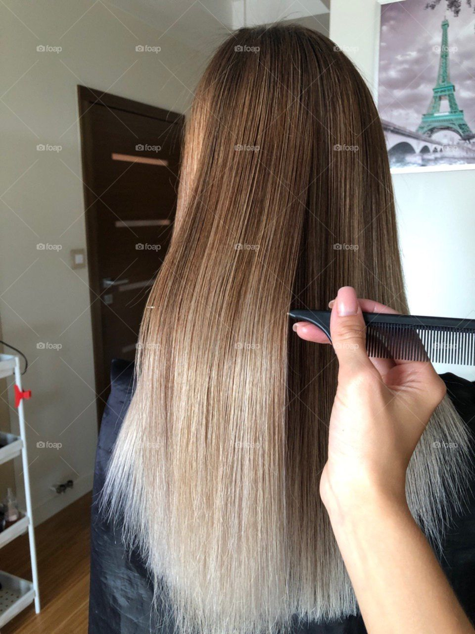 Hair style: balayage, air touch, hair coloring