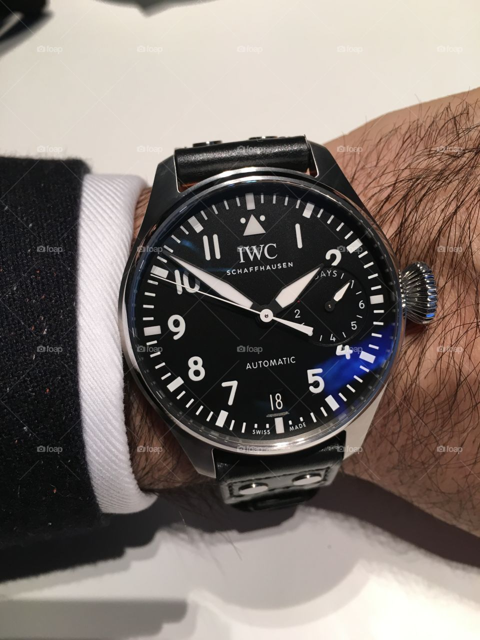 IWC Big Pilot watch on wrist