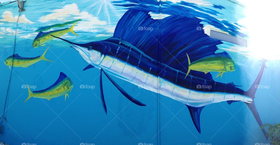 Sailfish mural