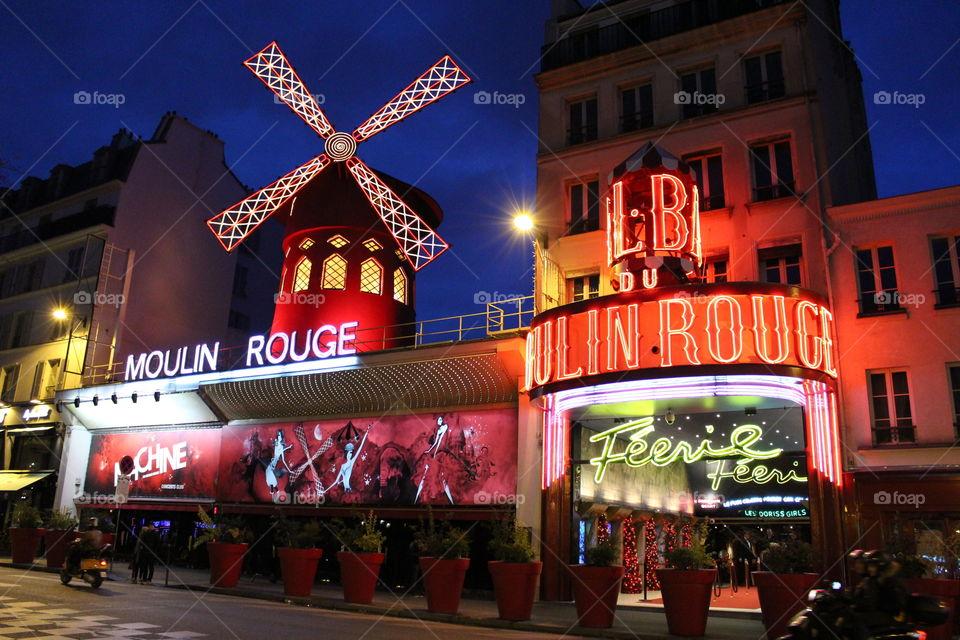 Moulin Rouge atmosphere,Paris