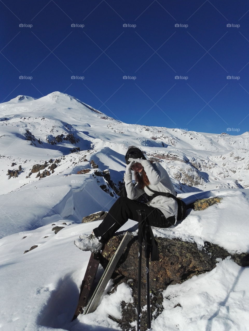 On the way to Elbrus. Caucasus, Russia