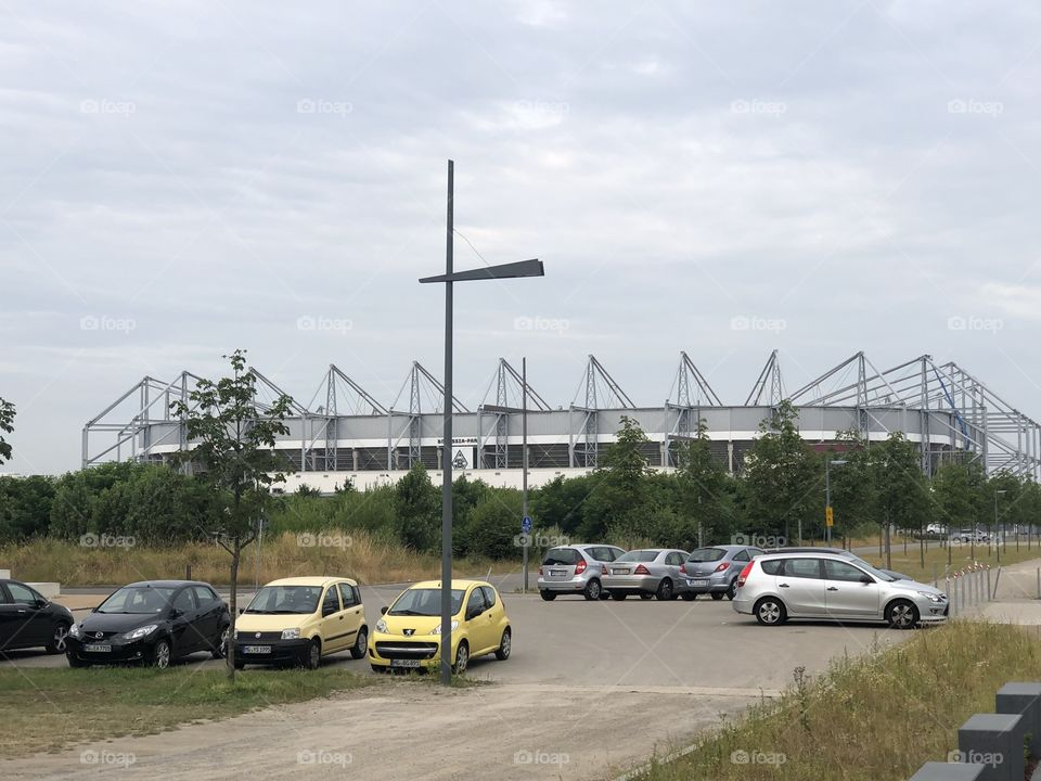 A football ground in Germany , big and passionate is the team