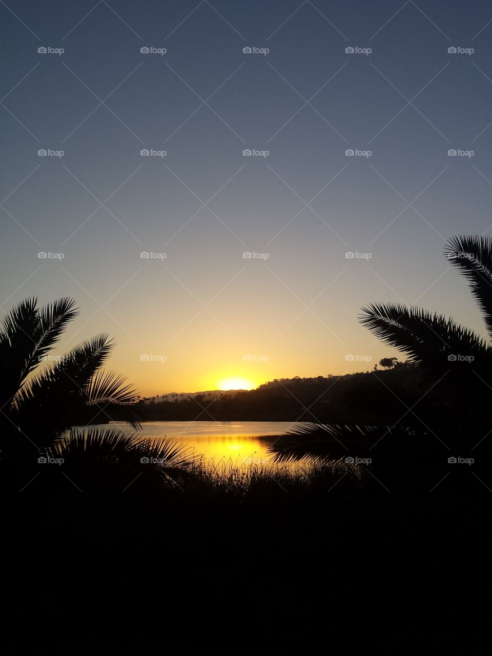 Santa Barbara and the setting sun