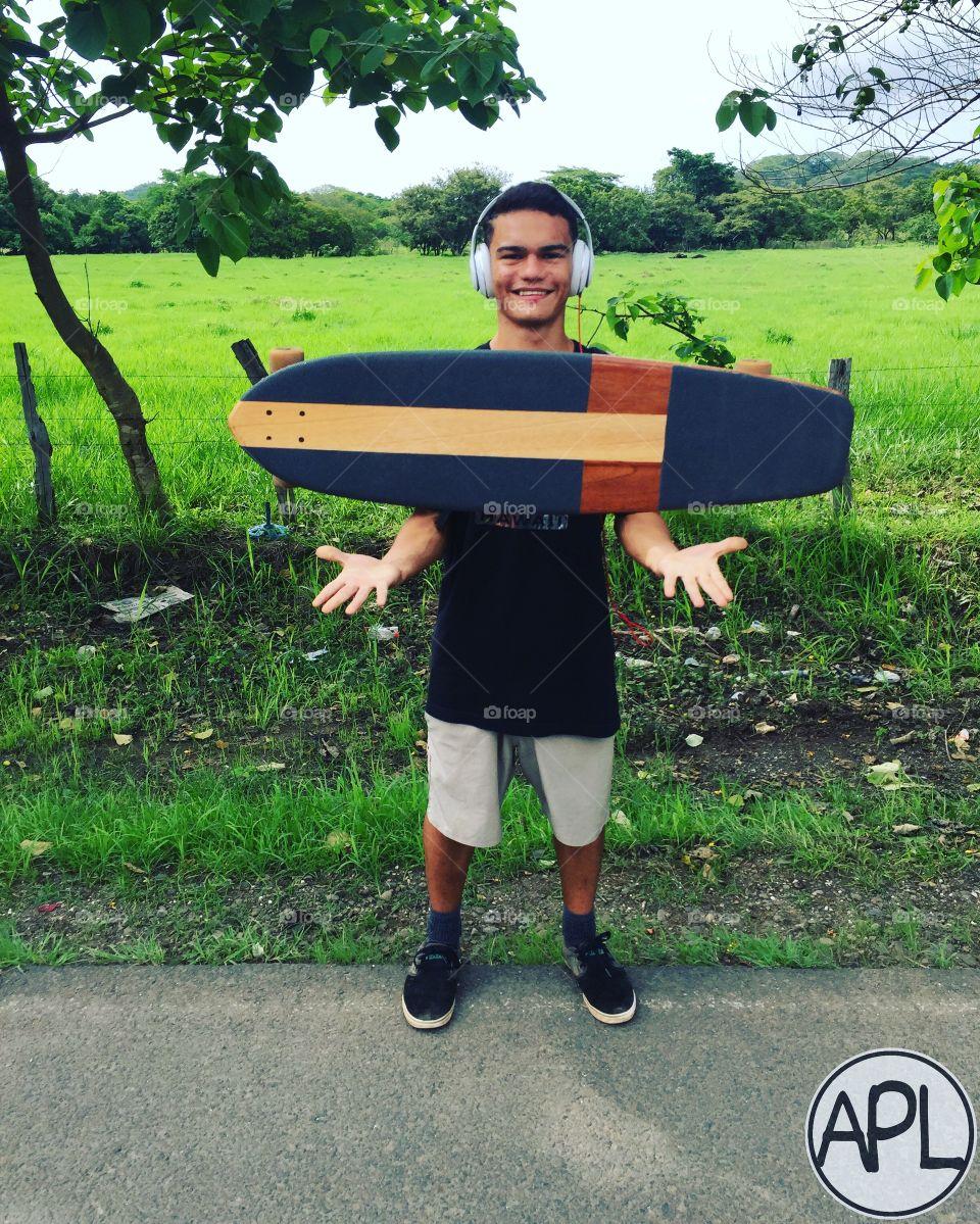 Longboard lifestyle artesanal deck