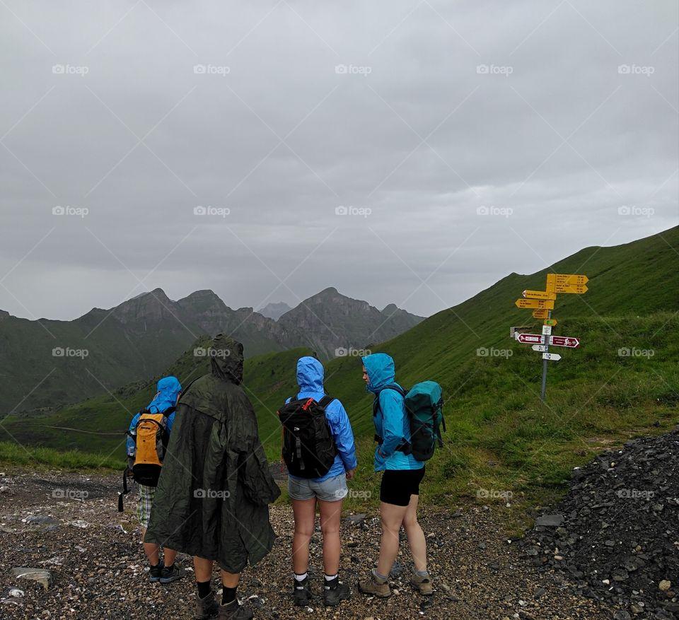 rain in the mountains Regen in den Bergen