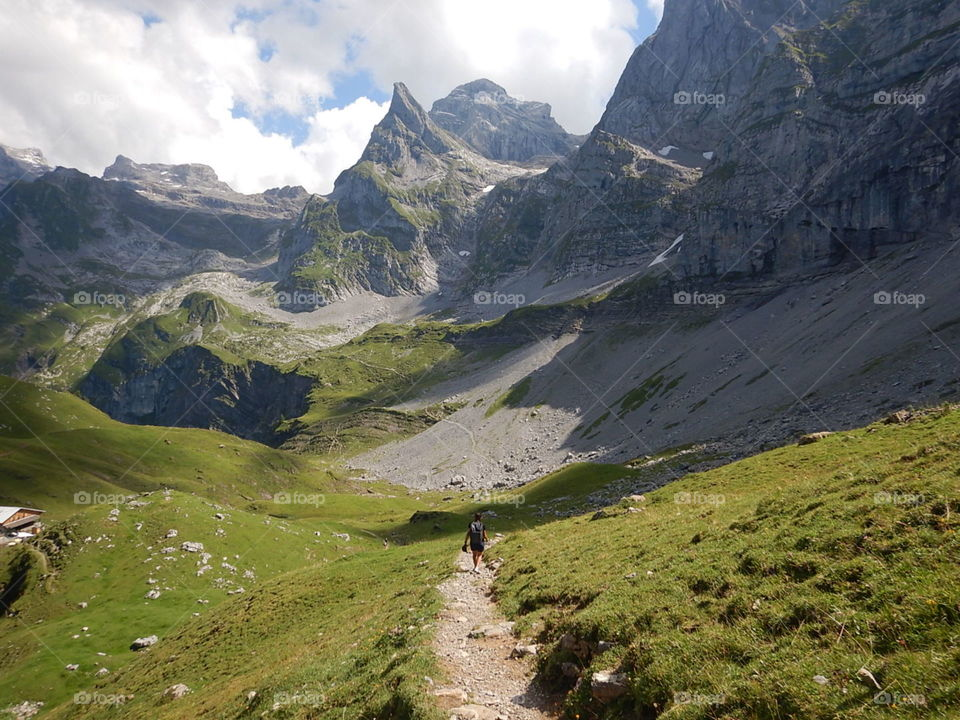 Beautiful Hike from Engelberg to Bannalpsee. Walenpfad