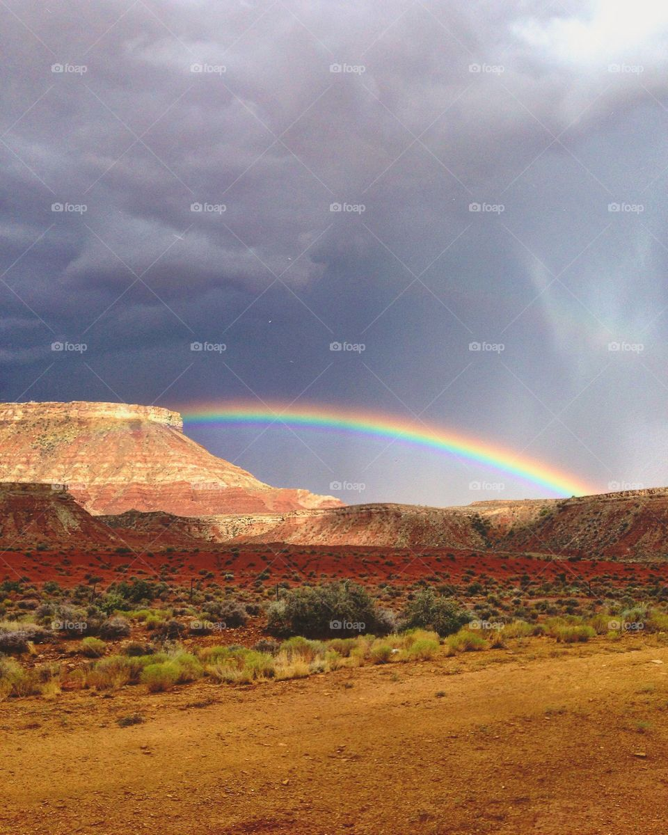 Rainbow after a big storm in Zion