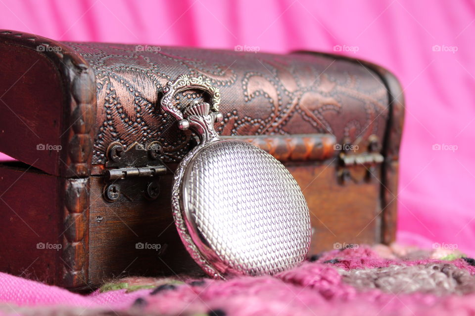 treasure chest and pocket watch