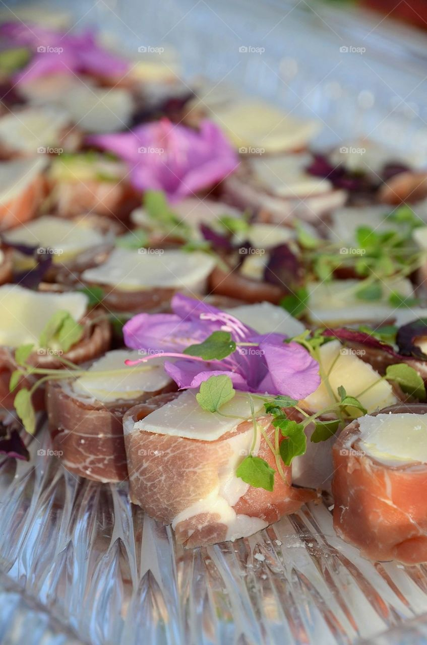 Food with flowers