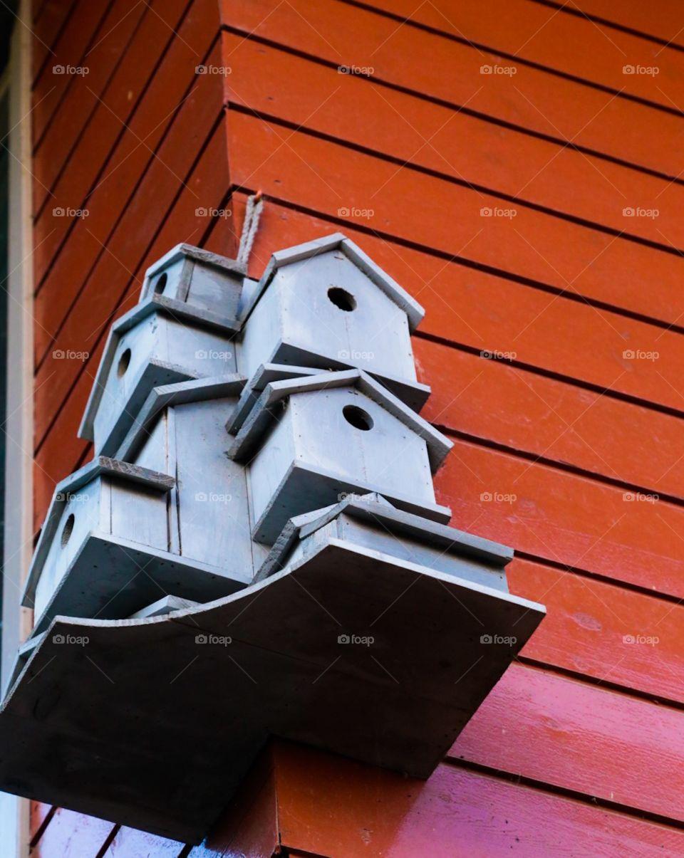 Bird houses . Bird skyskraper