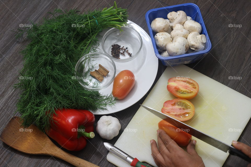 vegetarian ingredients for making dinner