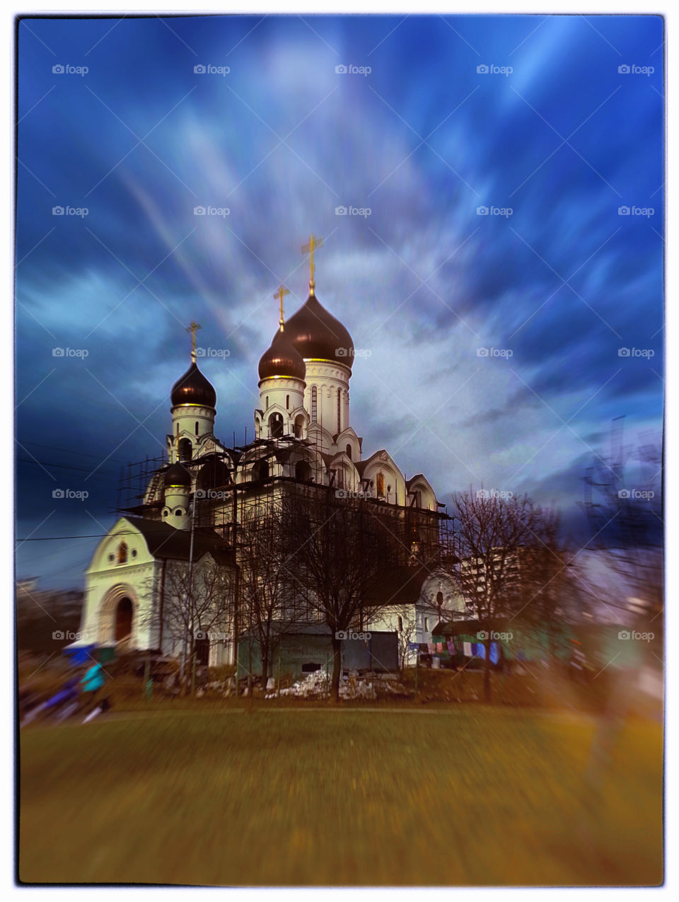 Russian orthodox church light leak