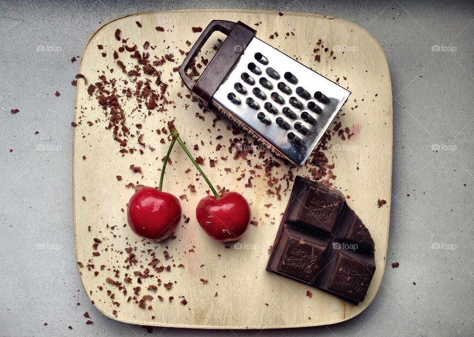 Cherry and chocolate