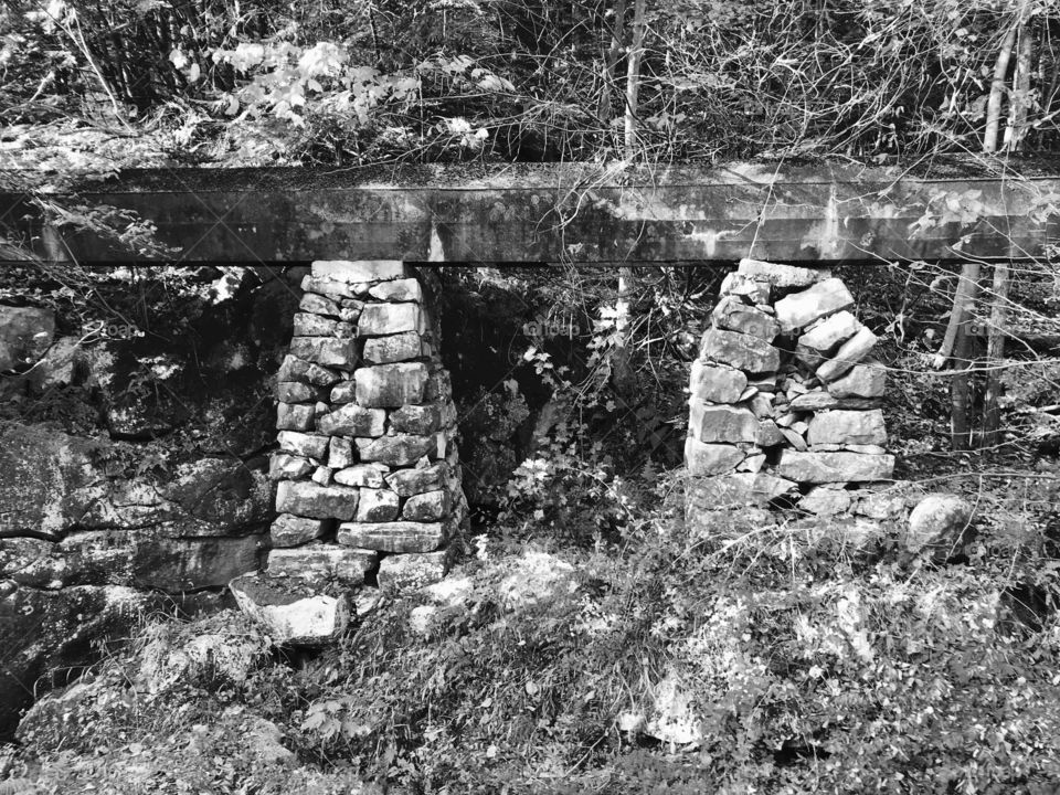 Black and white bridge