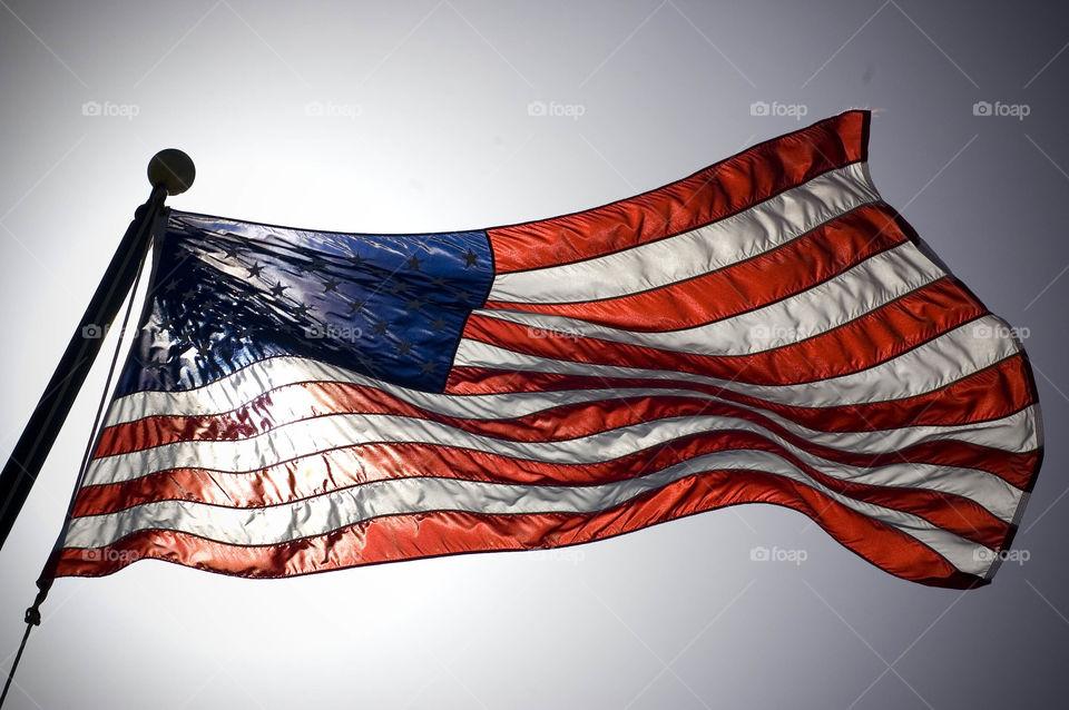Flag, Wind, Banner, Patriotism, Country