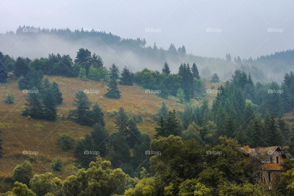 Mountain landscape, Autumn is comming