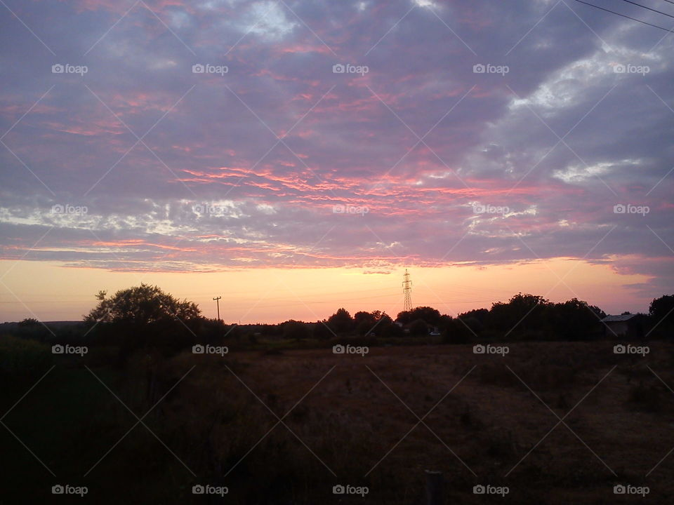 Sunset, Landscape, Dawn, No Person, Evening