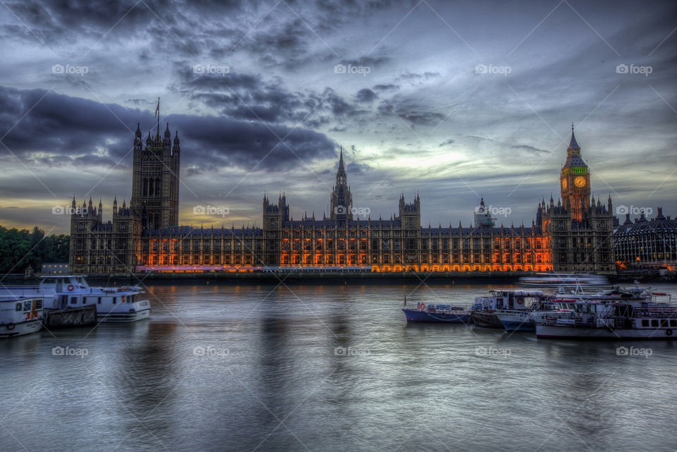 Houses of Parliament in the blue hour