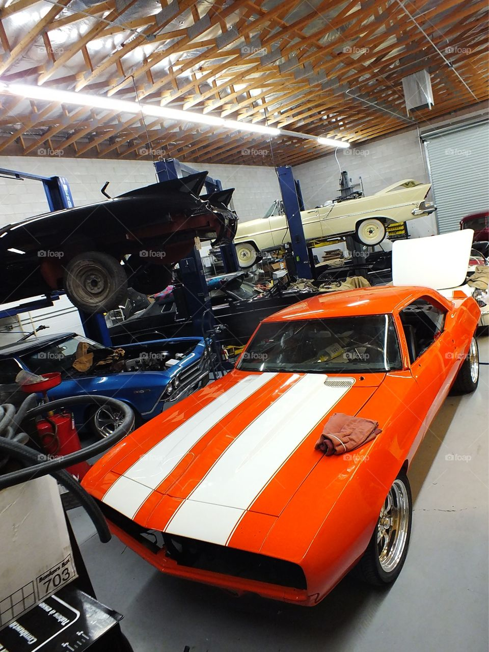 Classic car restoration shop in Las Vegas