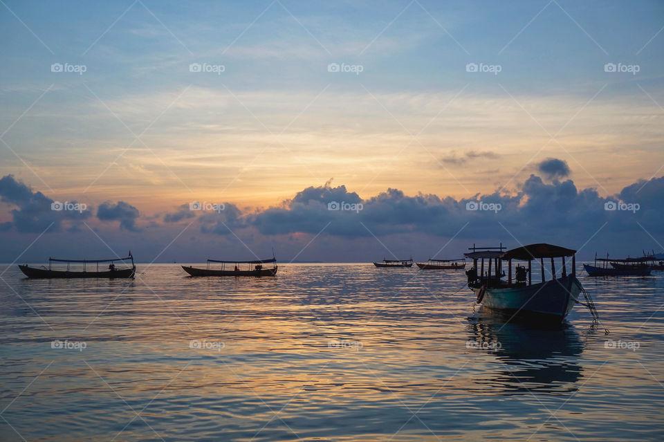Sunrise on Koh Rong, Cambodia
