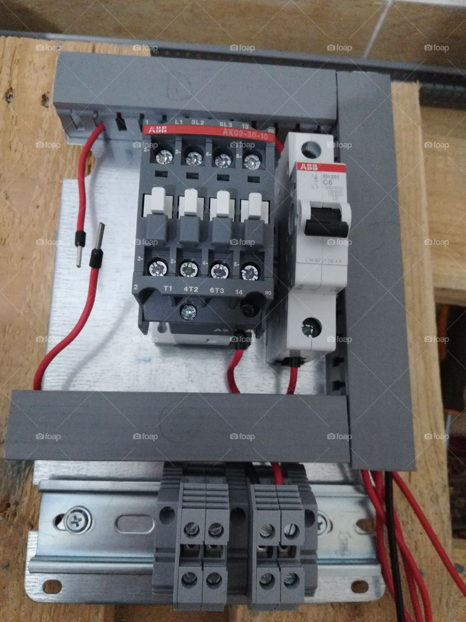 Electric panel, control system, ABB