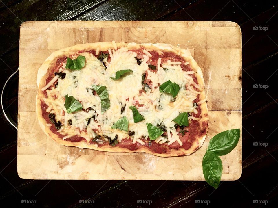 Delicious home made vegan pizza