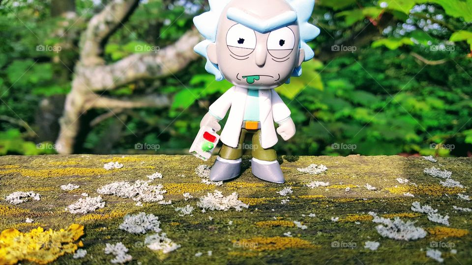 Rick's adventures. The woods are rich with the smell of farps, short for Mazarpafarps, Rick is tense. Too tense to wipe his own mouth. Morty is nowhere to be seen.
