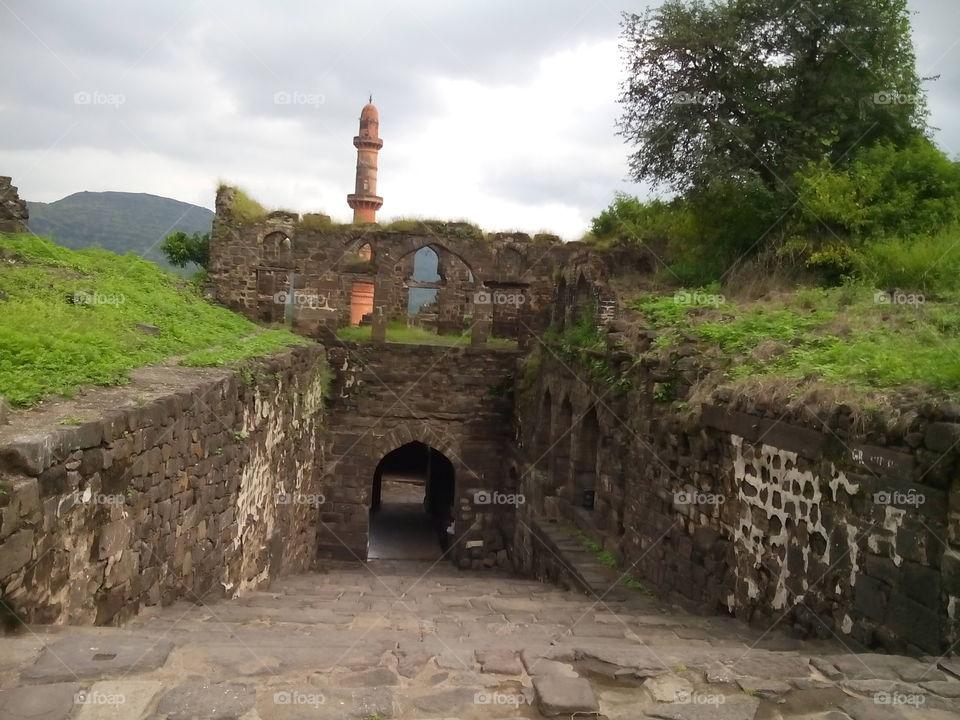 Daulatabad (Deogiri ) Fort  800years old  Made on time of Yadavas dynasty Auranagabad - Maharashtra - India