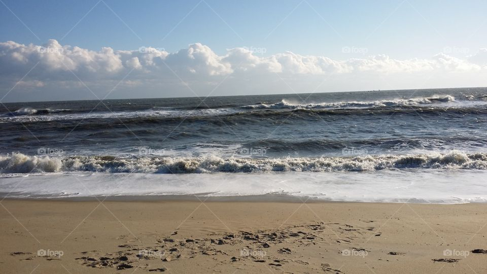 beach. Folly beach ocean