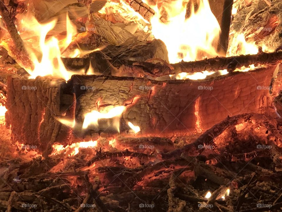 FIRE, campfire, wood, flames, flame, coal, coals, hot, warm, welcoming, cheery, outdoor, outdoors, outdoorsy, fun