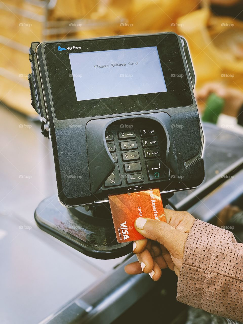 Using credit card for grocery shopping